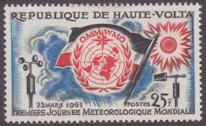 Burkina Faso 93 World Meteorological Day 1961