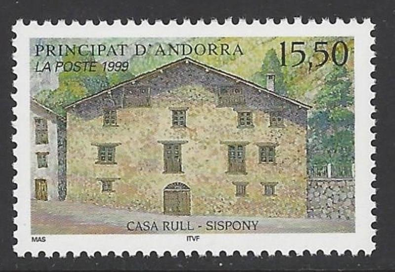 Andorra French 1999 Architecture Casa Rull VF MNH (514)