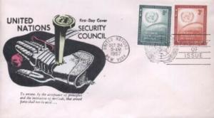 UN #55/56 SECURITY COUNCIL 1957 - Unk cachet