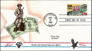 Beautiful Pugh Designed FDC Bonds Help War Effort  #96 of 132