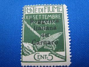 FIUME - QUARNERO ISLANDS - SCOTT # 106 -  MLH