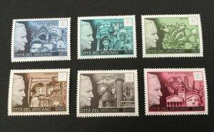 Vatican City Sc# 1022-1027 Complete Set MNH 1996 Pope John Paul II Travels NH