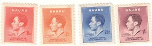 NAURU - Coronation of GVI - 1937 - Mint NH SG40-43