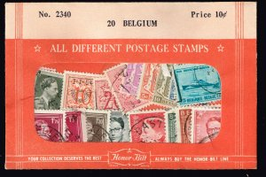 BELGIUM STAMPS USED STAMP SELLING PACKET