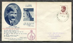 d229 - AUSTRALIA 1949 FDC Cover. Henry Lawson