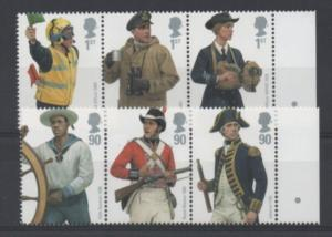 Great Britain Sc 2686-91 2009 Naval Uniforms stamps NH