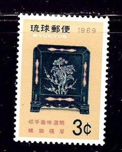 Ryukyu Is 182 MNH 1969 Philatelic Week    (ap2311)