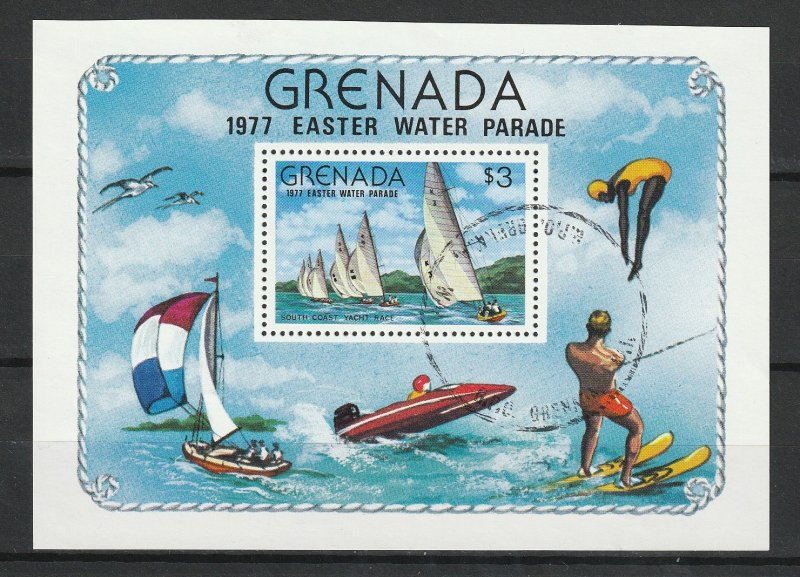 Grenada Used S/S 801 Easter Water Parade 1977