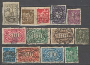 COLLECTION LOT # 4301 GERMANY 12 STAMPS 1922+ CV+$23