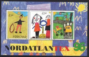 Faroe Islands 1996 MNH children `s drawings   sheet