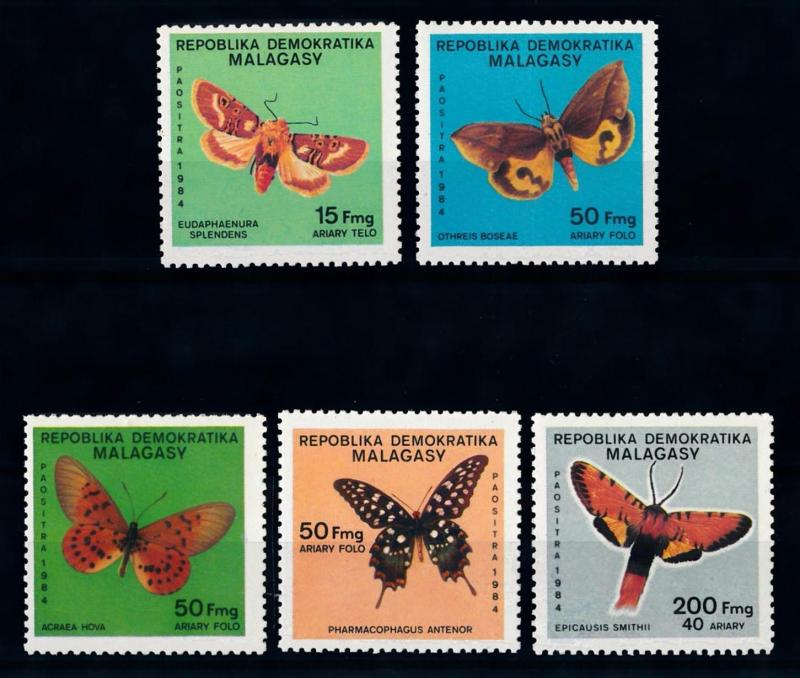 [70748] Madagascar 1984 Insects Butterflies  MNH