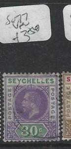 SEYCHELLES  (PP2905B)  KGV  30C     SG 77      VFU
