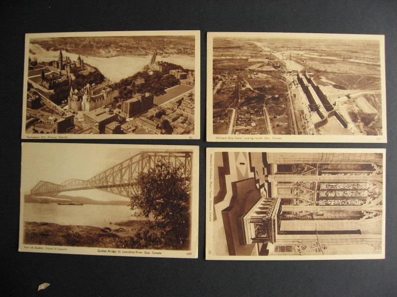 Canada 4 mint 1930 official pictorial stationery, postcards, 51, 53, 259, 305