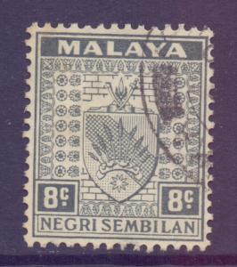 Malaya Negri Sembilan Scott 26 - SG29, 1935 Arms 8c used