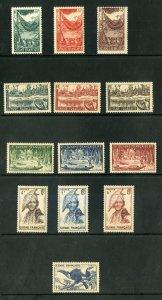 FRENCH GUIANA 192-204 MNH P.O. FRESH SHORT SET  SCV $20.00 BIN $11.50