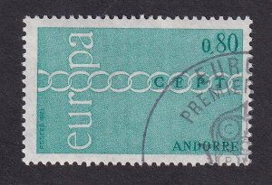 Andorra French    #206  cancelled  1971  Europa  80c