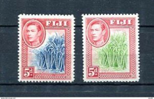 Fiji 1938-5 Sc 123-4 MNH Sugar cane 10739