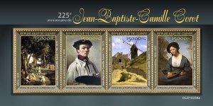 GUINEA - 2021 - Jean-Baptiste-Camille Corot - Perf 4v Sheet -Mint Never Hinged