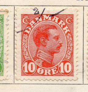 Denmark 1913 Early Issue Fine Used 10ore. 114256