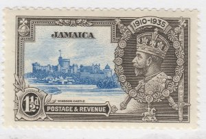 British Colony Jamaica Silver Jubilee 1935 1 1/2d MH* Stamp A22P19F8962