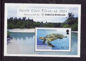 BIOT-Sc#296-unused NH sheet-Marine Life-Turtles-2005-