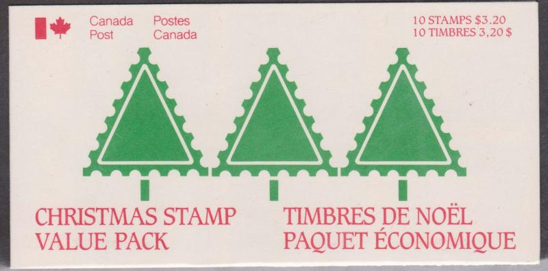 Canada - 1985 32c Christmas Pane of 10 4 Complete Booklets