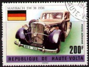 Old Car, Maybach, 1936, Burkina Faso stamp SC#C207 used
