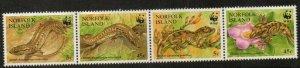 NORFOLK ISLAND SG611a 1996 ENDANGERED SPECIES SKINKS AND GECKOS MNH