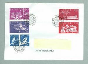 Sweden. FDC B Borg Tennis. Ski 1981 Sweden World. Engraver Z. Jakus. Addressed