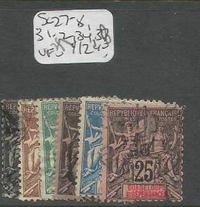 Guadeloupe SC 27-8, 31-2, 34, 37 VFU (8crp)
