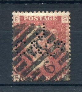 PENNY RED PLATE 1?1 WITH 'JC&Co' PERFIN
