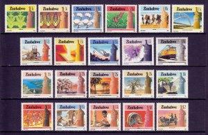 Zimbabwe - Scott #493//513 - MNH - Missing #514, some minor gum toning - SCV $33