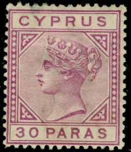 CYPRUS SG32, 30pa mauve, M MINT. Cat £11.