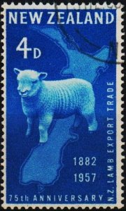 New Zealand. 1957 4d S.G.758 Fine Used