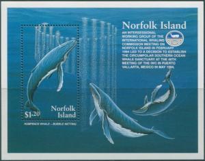 Norfolk Island 1995 SG590 Humpback Whales MS MNH