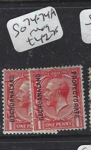 BECHUANALAND  (PP1904B)  KGV ON GB 1 D     SG  74-74A      MOG