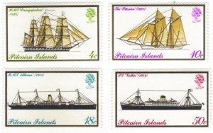 Pitcairn #147-50 MNH set – ships