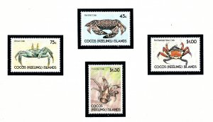 Cocos Is 212-15 MNH 1990 Crabs