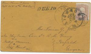 CSA POW Cover Scott #65 Target Cancel Sandusky, OH 1864 CDS Richmond, VA Due 10
