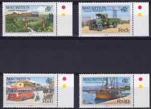 Mauritius 1998 Sc#859/862 Bicycles-Trains-Cars-Boat Transportation Set (4) MNH