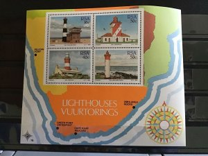 South Africa 1988 Lighthouse   stamps sheet   R25371