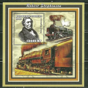 Mozambique MNH S/S Trains 2002