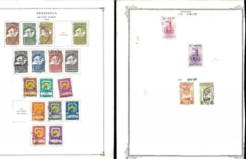 Venezuela 1941-1960 M & U Hinged on Remaindered Minkus & Scott Pages