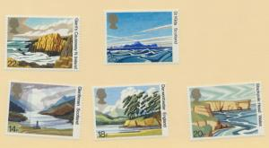 Great Britain Stamps Scott #945 To 949, Mint Never Hinged MNH, 50th Anniversa...