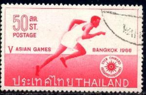 Running, 5th Asian Games Bangkok 1966, Thailand SC#444 used