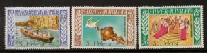 ST.HELENA SG332/4 1977 SILVER JUBILEE MNH