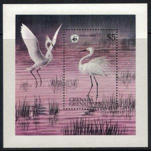 Grenada-Grenadines #297* NH  CV $17.00 Egret Souvenir sheet