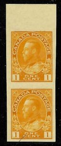 Canada Mint #136 XF NH Imperf Vertical Pair Admiral - C$200.00