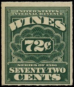 01673 U.S. wine revenue stamp Scott RE47 72-cent Wine stamp mint/unused