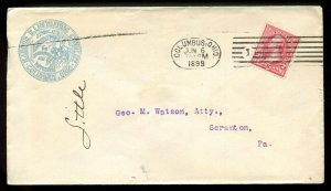 U.S. Type III 1st Bur. Iss. on 1899 Ad Cover for Harper Illustrating Syndicate